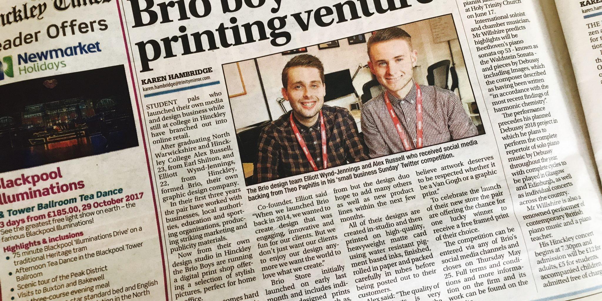 Brio Media in the Hinckley Times 24.05.17