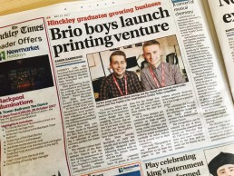 Brio Media in the Hinckley Times 24.05.17