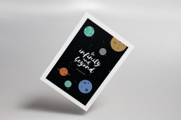 To Infinity and Beyond Toy Story themed postcard