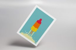 Rocket Lolly Postcard