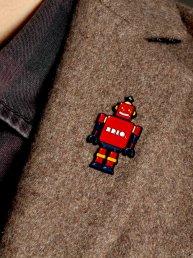 Bot Robot Enamel Pin Badge